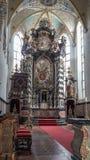 De Schoonheid van het kerkaltaar - Close-up stock foto