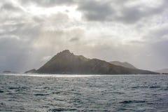 De schoonheid van het Toneel kruisen van Chili rond Kaaphoorn, meest zuidelijk uiteinde van Zuid-Amerika stock afbeelding