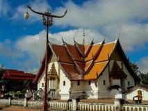 De schoonheid van de Phumin-tempel is de oudste tempel in Nan stock foto