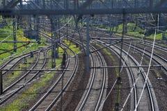 De schoonheid van de spoorweg royalty-vrije stock afbeeldingen