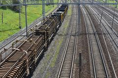 De schoonheid van de spoorweg stock afbeeldingen
