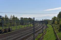 De schoonheid van de spoorweg royalty-vrije stock afbeelding