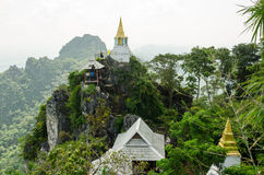 De schoonheid van Wat Chalermprakiat in Lampang, Thailand royalty-vrije stock afbeelding