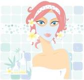 De schoonheidsmiddelen van Wellness â royalty-vrije illustratie