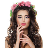 De schoonheidsportret van de manier van mooie vrouw Royalty-vrije Stock Foto
