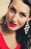 De schoonheidsportret van de vrouw Royalty-vrije Stock Foto
