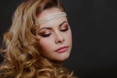 De schoonheidsportret van de vrouw royalty-vrije stock fotografie