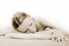 De schoonheidsportret van Wellness Stock Fotografie