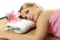 De schoonheidsportret van Wellness royalty-vrije stock fotografie