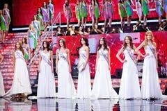 De schoonheidswedstrijd van misser Russia 2010 royalty-vrije stock afbeelding