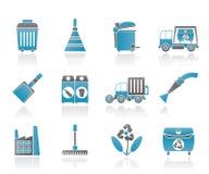 De schoonmakende Pictogrammen van de Industrie en van het milieu stock illustratie
