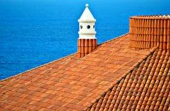 De schoorsteen van het dak Stock Afbeeldingen