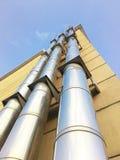 De schoorsteen van het roestvrij staal aardgas Stock Afbeelding