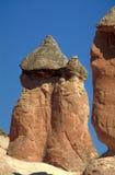 De schoorstenen van Cappadocia stock afbeeldingen