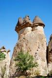 De schoorstenen van de fee in Cappadocia Royalty-vrije Stock Foto