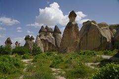 De schoorstenen van de fee, Cappadocia, Turkije Stock Foto's