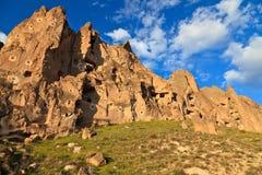 De schoorstenen van de fee in Cappadocia, Turkije Stock Fotografie