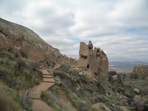 De schoorstenen van de fee, Cappadocia, Turkije Stock Fotografie