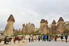 De Schoorstenen van de Fee van Cappadocia stock foto