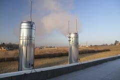 De schoorstenen van het chroom Stock Foto's