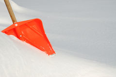 De schop van de sneeuw Royalty-vrije Stock Foto's