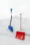 De Schoppen van de sneeuw Royalty-vrije Stock Afbeeldingen