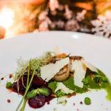 De schotel gezonde maaltijd van het vakantierestaurant Royalty-vrije Stock Fotografie