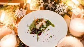 De schotel gezonde maaltijd van het vakantierestaurant Royalty-vrije Stock Foto