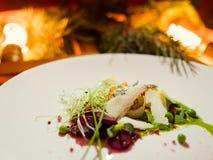 De schotel gezonde maaltijd van het vakantierestaurant Royalty-vrije Stock Afbeeldingen