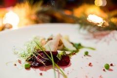 De schotel gezonde maaltijd van het vakantierestaurant Royalty-vrije Stock Afbeelding