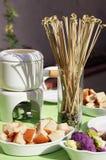 De schotel van de fondue Stock Foto's