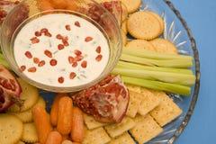 De schotel van de partij met snacks Royalty-vrije Stock Afbeeldingen