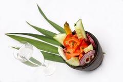 De schotel van de salade Stock Afbeeldingen