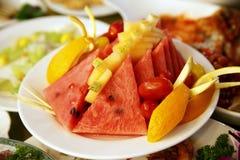 De schotel van het fruit Stock Afbeelding