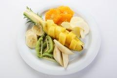 De schotel van het fruit stock foto