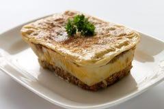 De schotel van lasagna's Royalty-vrije Stock Afbeeldingen