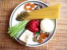 De schotel van Spaguetti stock foto
