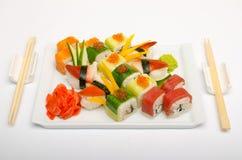 De schotel van sushi Stock Afbeeldingen