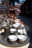 De schotels van de koffie in Sarajevo Stock Fotografie