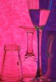 De schotels van het glas royalty-vrije stock fotografie
