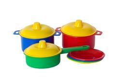 De schotels van het stuk speelgoed royalty-vrije stock afbeelding