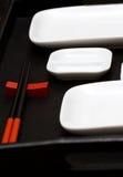 De schotels van sushi Royalty-vrije Stock Afbeeldingen