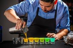 De schoten van de regenboogkleur stock afbeeldingen
