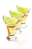 De schoten van Tequila stock foto's