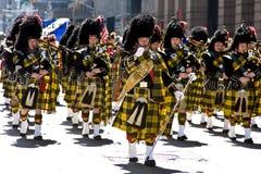 De Schotse Band van de Doedelzak royalty-vrije stock afbeelding