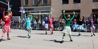 De Schotse Parade van de Dag Royalty-vrije Stock Afbeeldingen