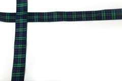 De Schotse pensionair van het Geruit Schots wollen stoflint stock afbeelding