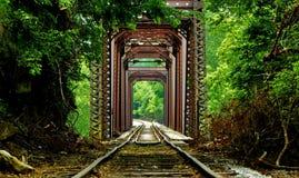 De schraag van de Rairoadbrug Stock Foto's