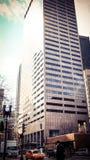 De schrapers van de de stadshemel van Boston in de winter royalty-vrije stock foto's