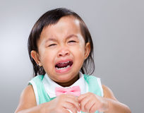 De schreeuw van het meisje Stock Foto